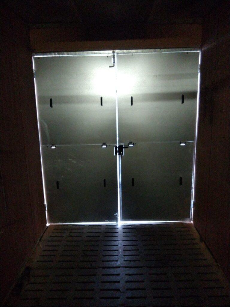 Fabrication porte galvanisée pour porcherie